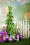 圣诞节范围前面纠察队员结构树 库存照片