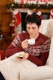 圣诞节茶会 库存图片