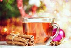 圣诞节茶和香料 库存图片
