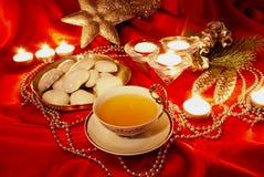 圣诞节茶 免版税库存照片