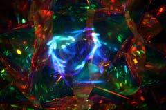 圣诞节荧光的丝带 库存照片