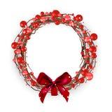 圣诞节莓果花圈红色 皇族释放例证