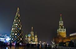 圣诞节莫斯科红场结构树 库存照片
