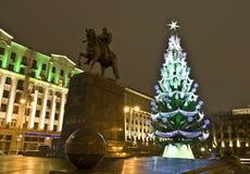 圣诞节莫斯科结构树 免版税图库摄影