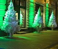 圣诞节莫斯科结构树 库存图片