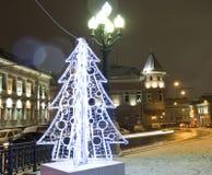 圣诞节莫斯科结构树 图库摄影