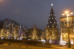 圣诞节莫斯科结构树 免版税库存图片