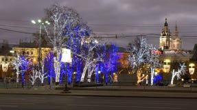 圣诞节莫斯科 库存图片