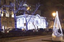 圣诞节莫斯科 免版税库存图片
