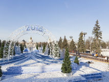 圣诞节莫斯科 库存照片