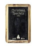 圣诞节菜单标志 免版税库存照片