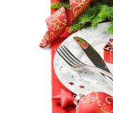 圣诞节菜单概念查出在白色 库存图片