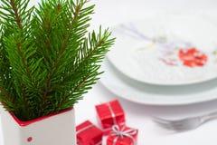 圣诞节菜单概念 免版税库存照片