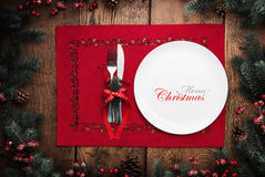 圣诞节菜单概念 库存照片