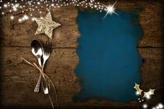 圣诞节菜单背景 免版税库存照片