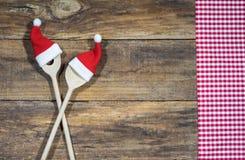 圣诞节菜单背景 库存照片