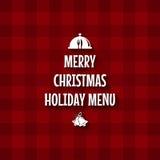 圣诞节菜单设计 免版税图库摄影