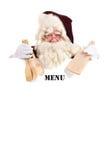 圣诞节菜单 免版税库存照片