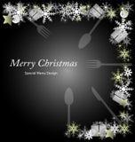 圣诞节菜单 免版税库存图片