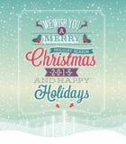 圣诞节葡萄酒海报 库存图片