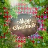 圣诞节葡萄酒牌 10 eps 免版税库存图片