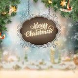 圣诞节葡萄酒牌 10 eps 库存图片