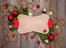 圣诞节葡萄酒看板卡 免版税库存图片