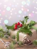 圣诞节葡萄酒礼物 库存图片