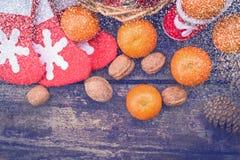 圣诞节葡萄酒背景 图库摄影