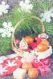 圣诞节葡萄酒背景 免版税库存图片