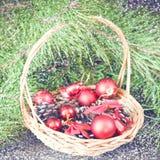 圣诞节葡萄酒背景 免版税图库摄影