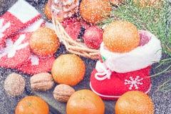 圣诞节葡萄酒背景 库存图片
