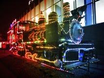 圣诞节蒸汽引擎在墨西哥城 免版税库存图片