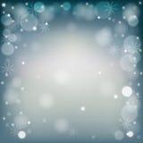 圣诞节蓝灰色背景 免版税图库摄影