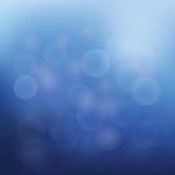 圣诞节蓝色光抽象背景  免版税库存图片