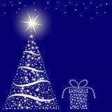 圣诞节蓝色背景 库存照片