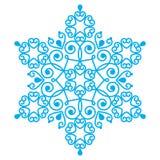 圣诞节蓝色雪花设计 图库摄影