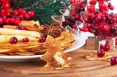圣诞节薄煎饼 库存图片