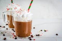 圣诞节薄荷上等咖啡 免版税库存照片