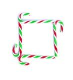 圣诞节薄荷的藤茎糖果关闭在白色 图库摄影