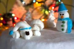 圣诞节蛋糕装饰 免版税库存图片