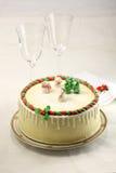 圣诞节蛋糕 库存图片