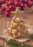 圣诞节蛋糕 免版税库存图片