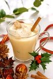 圣诞节蛋黄乳时间 免版税库存照片