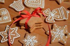圣诞节蜂蜜姜饼 库存图片