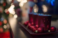 圣诞节蜡烛台 图库摄影