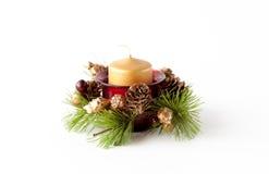 圣诞节蜡烛构成 库存图片