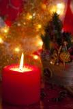 圣诞节蜡烛红色 免版税库存图片