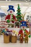 圣诞节行在超级市场泰国模范戏弄在曼谷,泰国 免版税库存图片