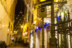 圣诞节街道场面罗马 免版税库存图片